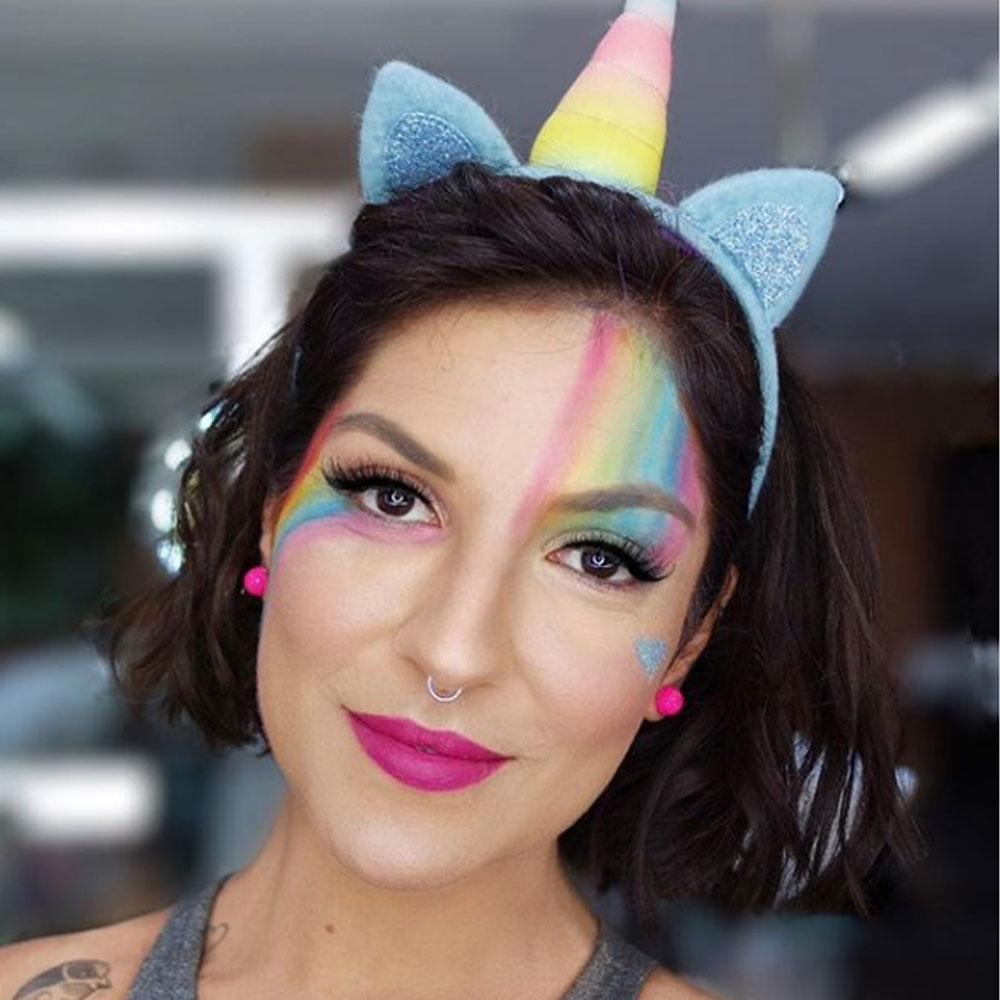 Maquiagem para Carnaval Unicórnio