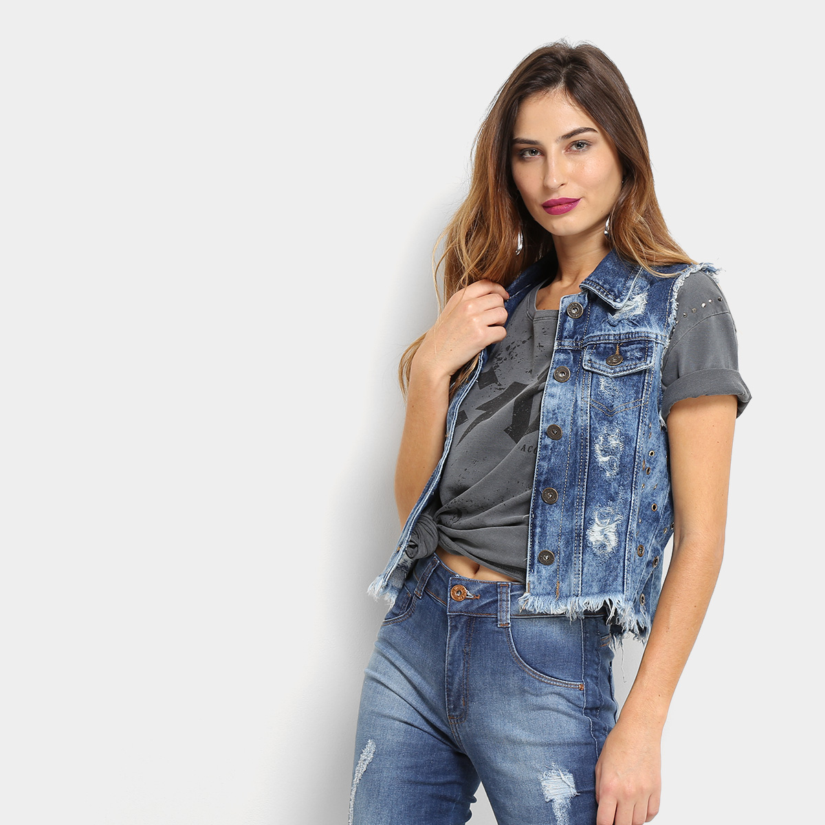 Looks com colete jeans 2020