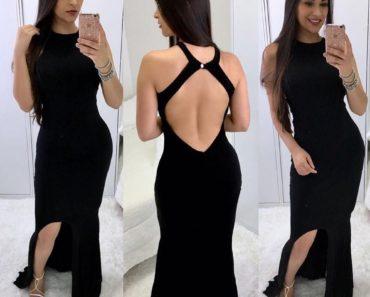 Vestidos com Decote nas Costas 2020