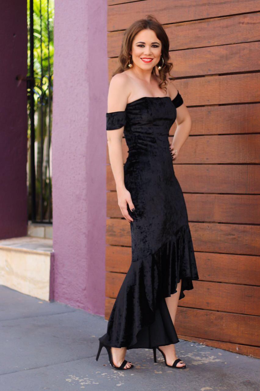 Vestidos longos de veludo